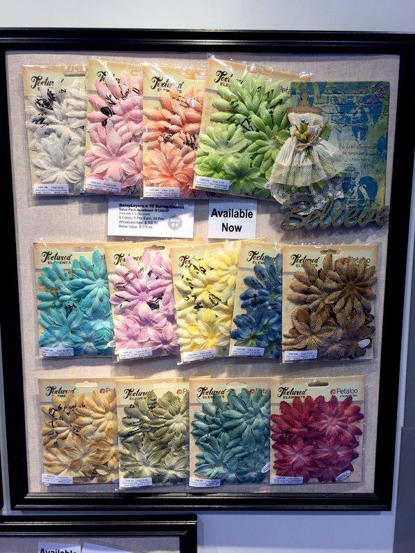 Petaloo Textured Elements Daisy Layers CHA Winter 2016