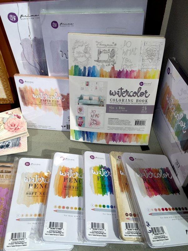 Prima Watercolor Coloring Book CHA Winter 2016
