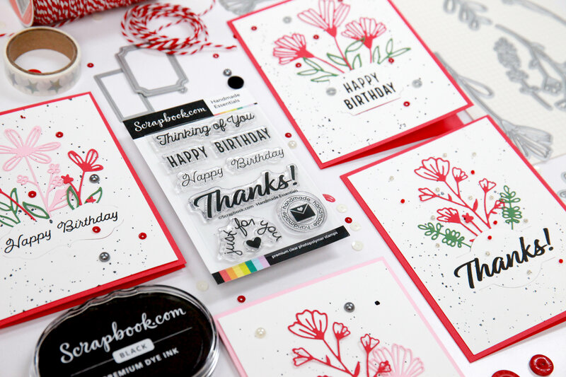 Floral Card Set - Happy Birthday, Thanks, Thinking of You...