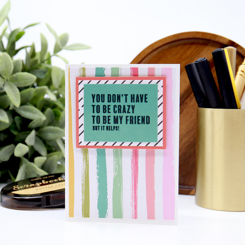 Being My Best Friend - Card Example