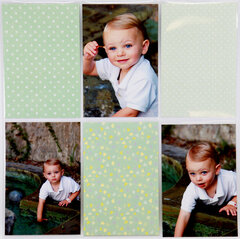Baby Boy Layout with Easy Albums