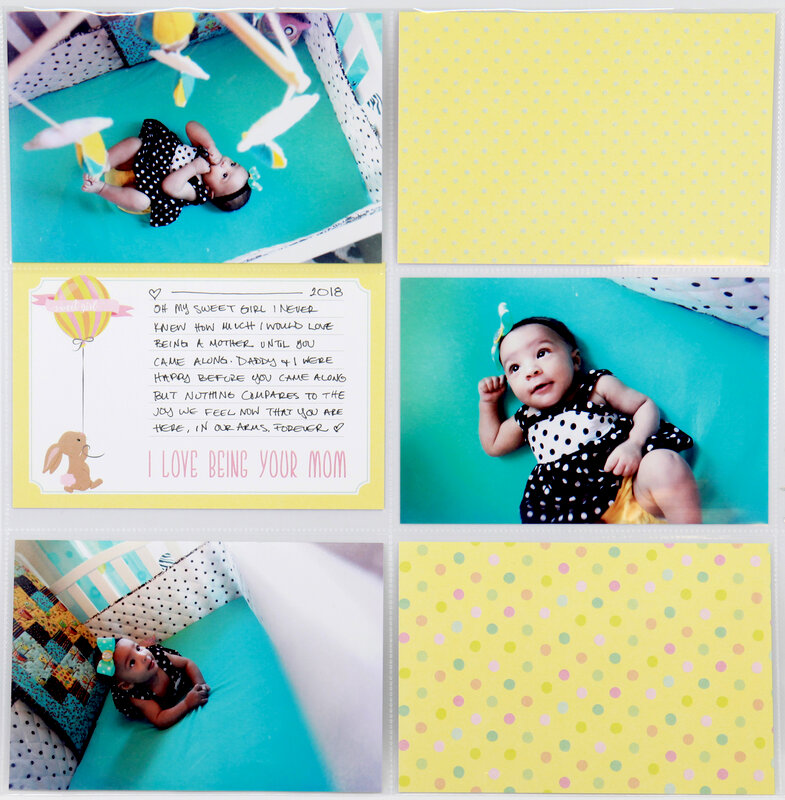 Baby Girl Easy Albums Layout