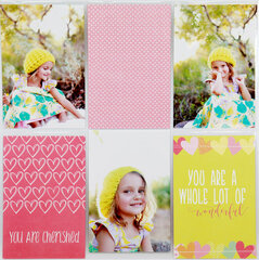 Layout from the Baby Girl Easy Albums Kit