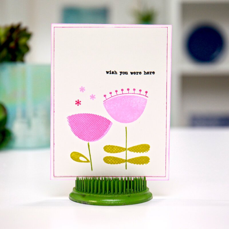 Wish you were here card...