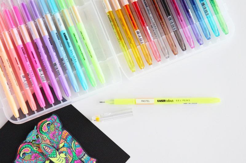 Get coloring with Kaisercraft Kaisercolour Gel Pens!