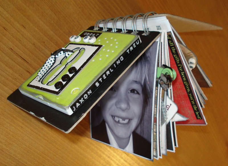 "Album (side view) ""Great to be 8"" With A ""My Pages Talk"" Recording Device by Christina Treu"