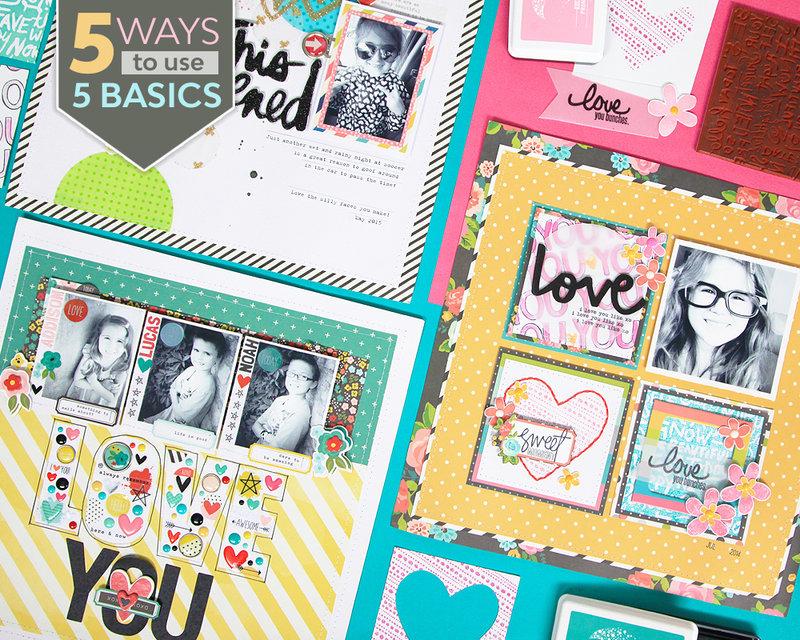 5 Ways to Use 5 Basics FREE Scrapbooking Class!