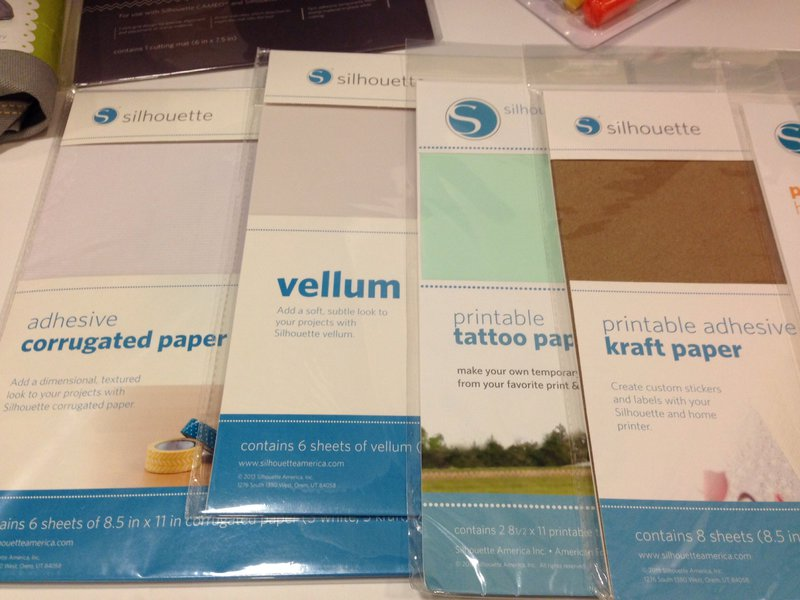 Silhouette America SPC Trade Show Summer 2014 Self adhesive corrugated paper, kraft paper and vellum
