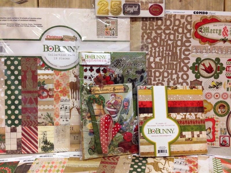SPC Trade Show Summer 2014 Bo Bunny Christmas Collage Collection