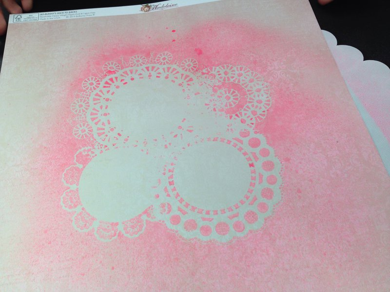 Bo Bunny adhesive backed stencils and mists SPC Trade Show 2014