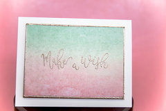 Make a Wish Embossed Watercolor Background Card | Scrapbook.com Exclusive Stamps