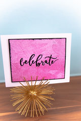 Celebrate Embossed Watercolor Background Card | Exclusive Scrapbook.com Stamps