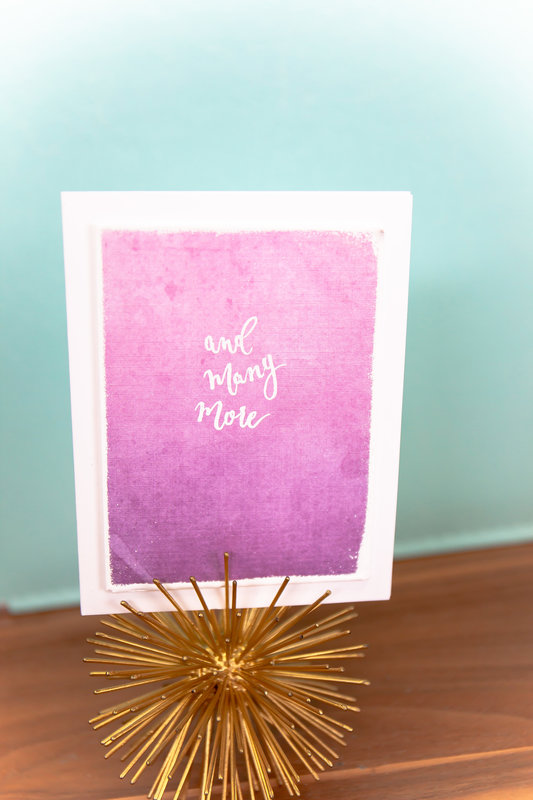 Embossed Sentiment Watercolor Background Card