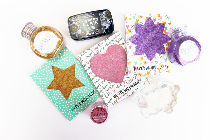 Sparkle Sentiments for All Occasions | Scrapbook.com Exclusive Stamp Set and Tonic Glitter
