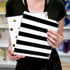 Black & White Stripe, Gold Dot 6x8 Albums