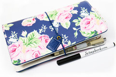Webster's Pages Navy Floral Travel Planner
