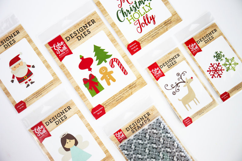 I Love Christmas Echo Park Paper Designer Dies and Stamps