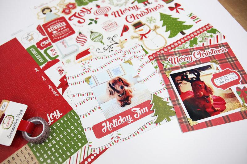 I love Christmas Scrapbook Layouts