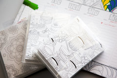 Coloring calendar and cards with Paper Accents