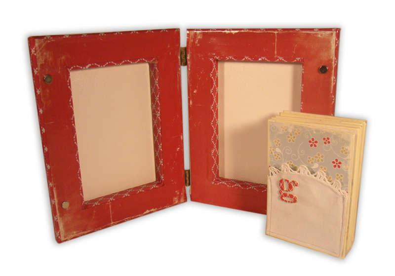 Art Canvas Hinged Book Album (inside)