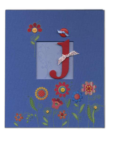 Decorated 'J' 8.5 x 11 album