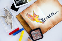 Lesson 7 - Art Journaling with Gelatos