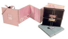 Mini Baby Accordion Album Using 4 x 4 E-Cuts