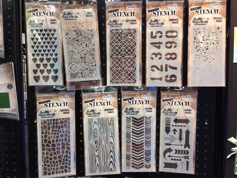 Tim Holtz Ranger Ink NEW CHA Winter 2014 Tag Stencils