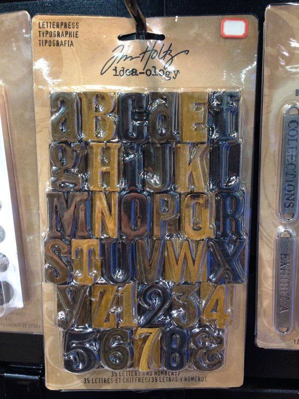 Tim Holtz Ideaology Letterpress Alphabet CHA Winter 2014