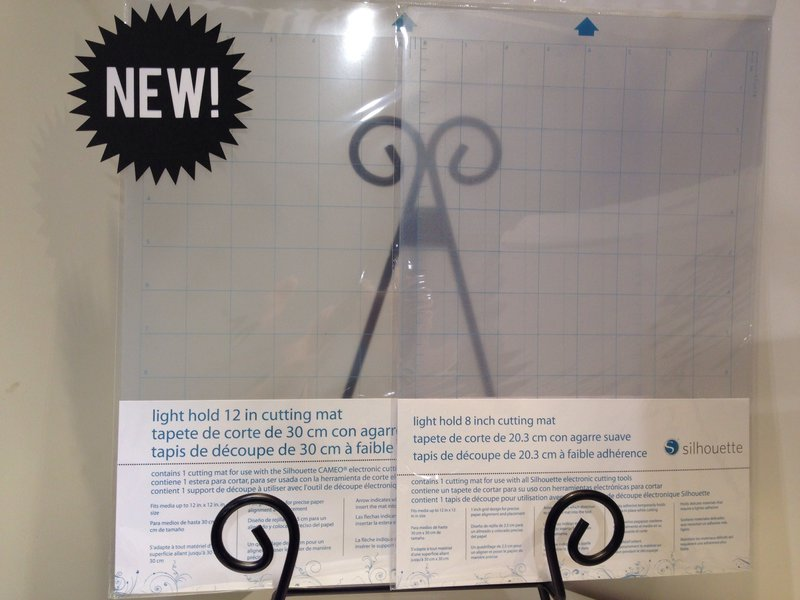 Silhouette America Light Hold 12x12 and 8x8 Cutting Mats NEW CHA Winter 2014
