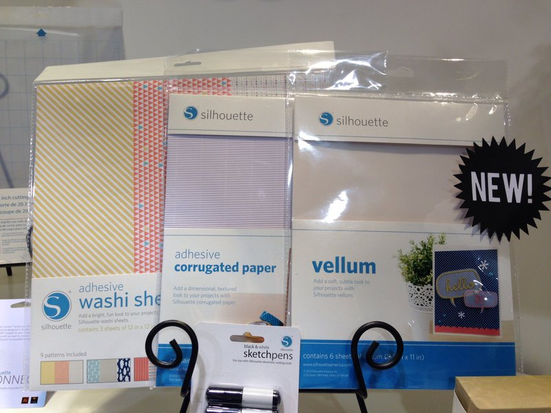 Silhouette America Vellum, adhesive washi sheets and adhesive corrugated paper NEW CHA Winter 2014