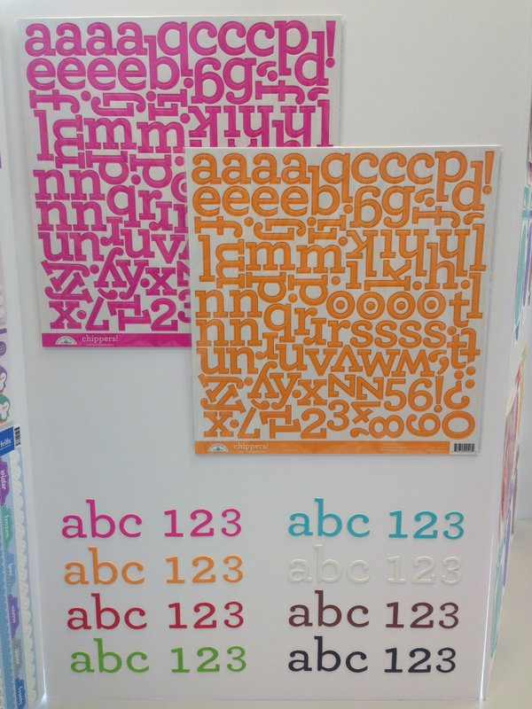 NEW SPC Trade Show Summer 2014 Doodlebug Design Chipboard Alphabet Stickers