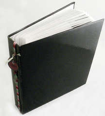 Photo Album With Embellished Spine - Ribbon and Identification Tags