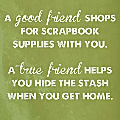 Quote - A good friends shops...