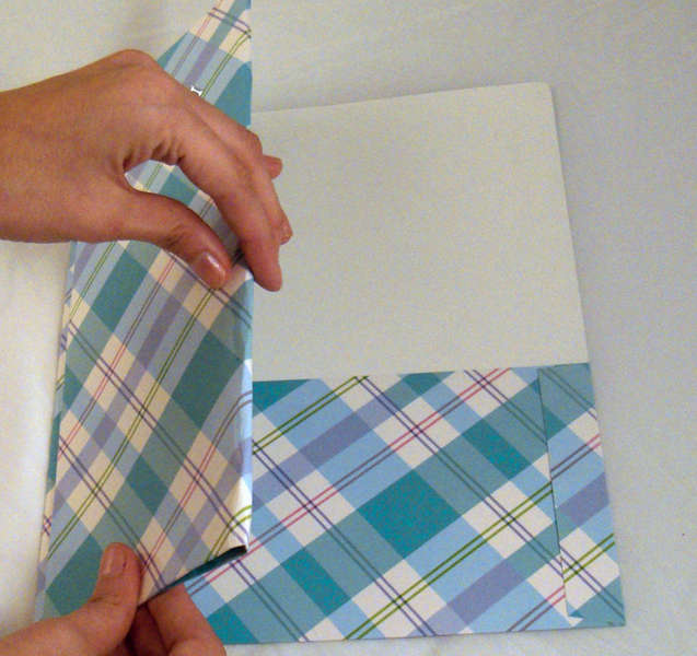 Folded Portfolio Album for Paint Swatch Cards (how to fold cover)