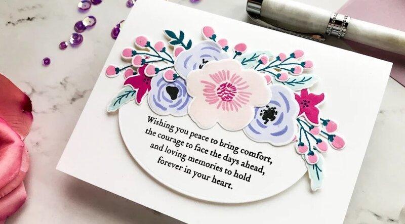 Floral Handmade Sympathy Card