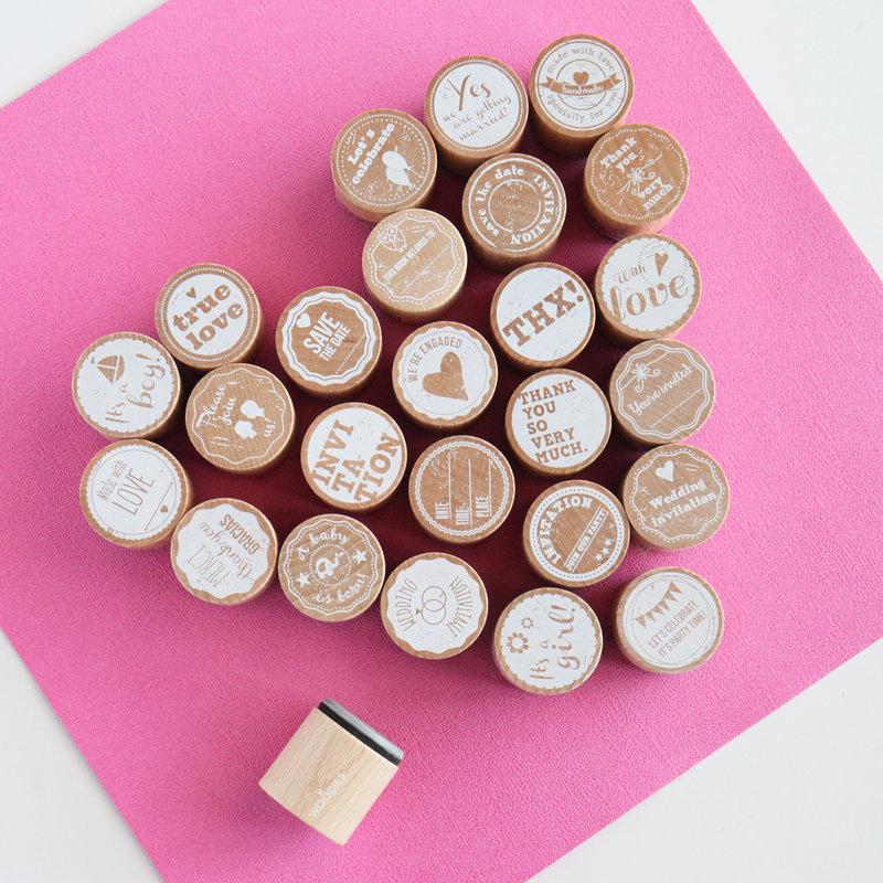 Woodies circle stamps!