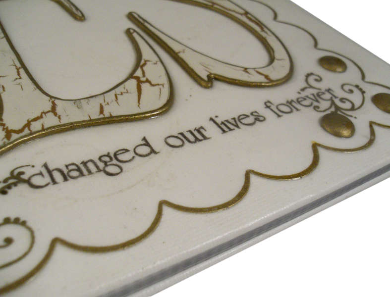 """Yes"" Wedding Album - Detail of Lettering"