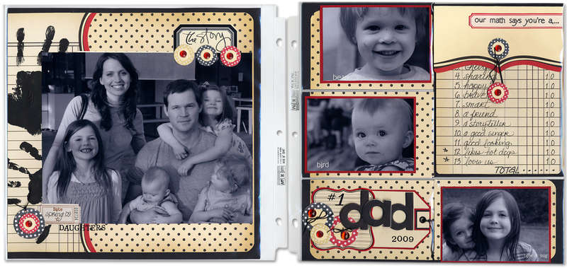 #1 Dad Layout (with tag and card incorporated)