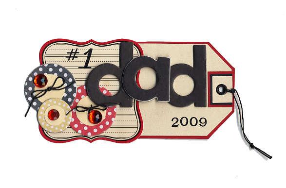 #1 Dad Tag