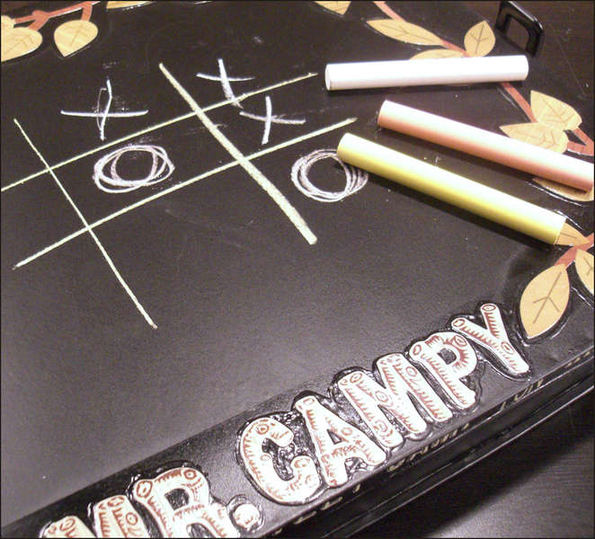 Mr. Campy's Outside Cover (Chalkboard Surface Detail)