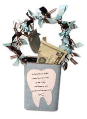 Tooth Fairy Decorated Tin by Sarah Memmott