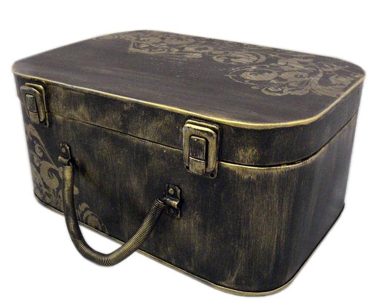 Altered Vintage Suitcase - Banner Storage/Home Decor