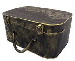 Altered Vintage Suitcase - Banner Storage/Home Decor