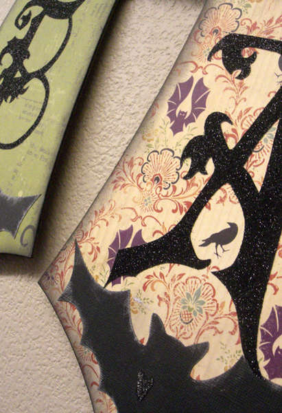 Batty For You Reversible Halloween Banner *Close up 1