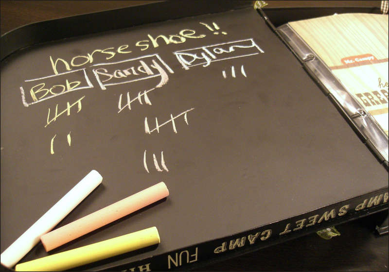 Mr. Campy's Inside Cover (Chalkboard Surface Detail)