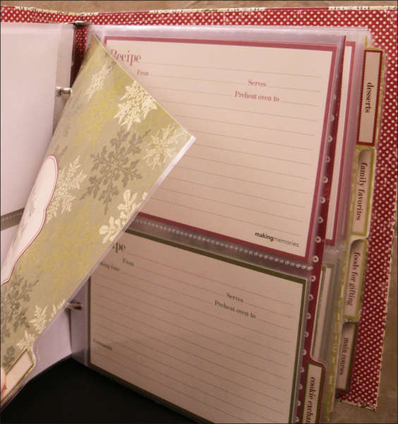 Recipe Book Page Protectors for Cards and Dividers