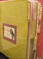 Making Memories Holiday Recipe Album - Customized Laminated Dividers