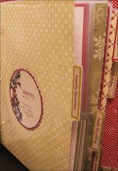 Making Memories Holiday Recipe Album - Customized Laminated Dividers2