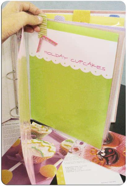 Cupcake Idea Organizer/Album - inside 1